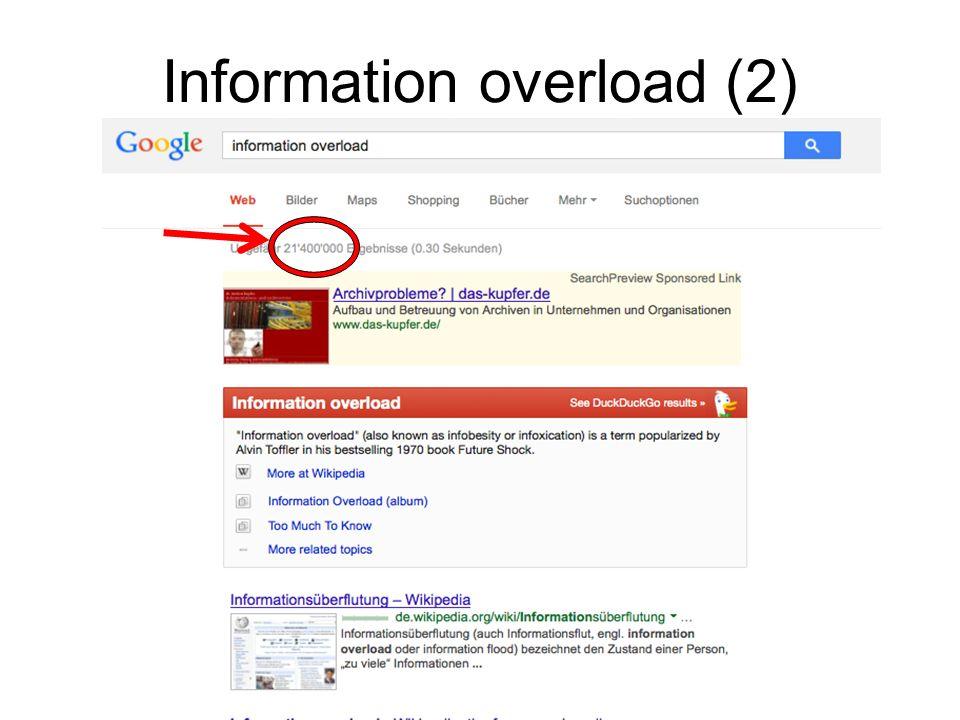 Information overload (2)