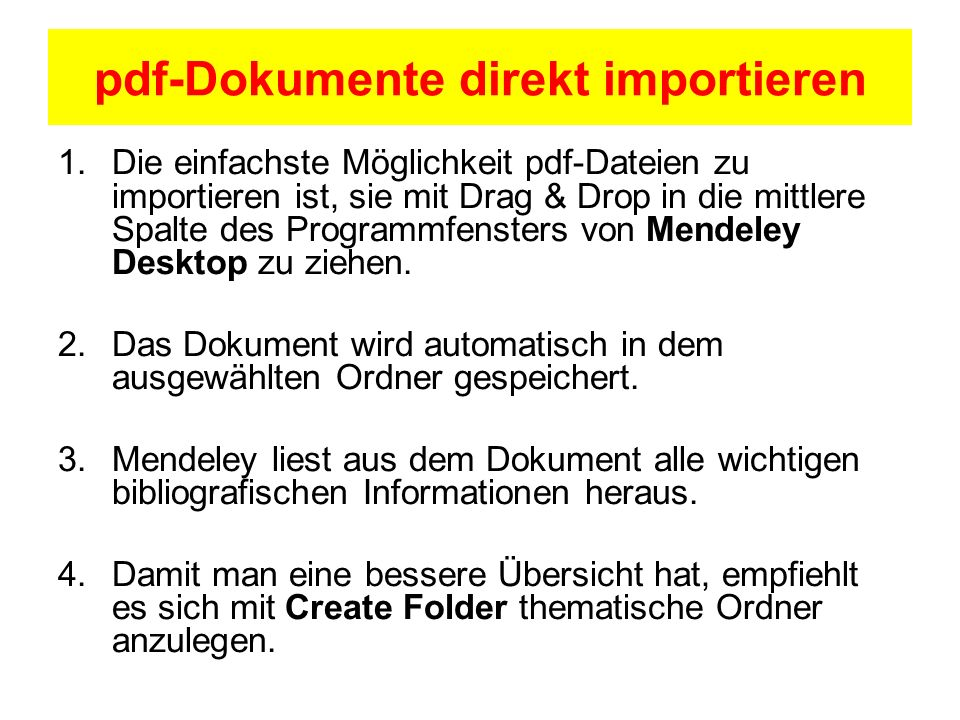 pdf-Dokumente direkt importieren