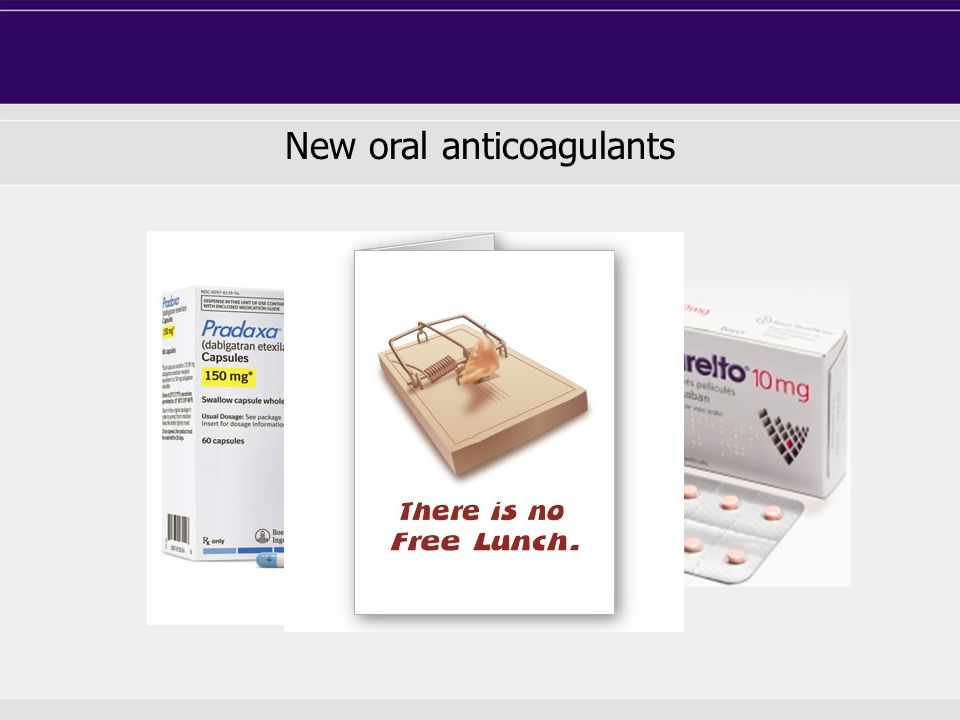 New oral anticoagulants