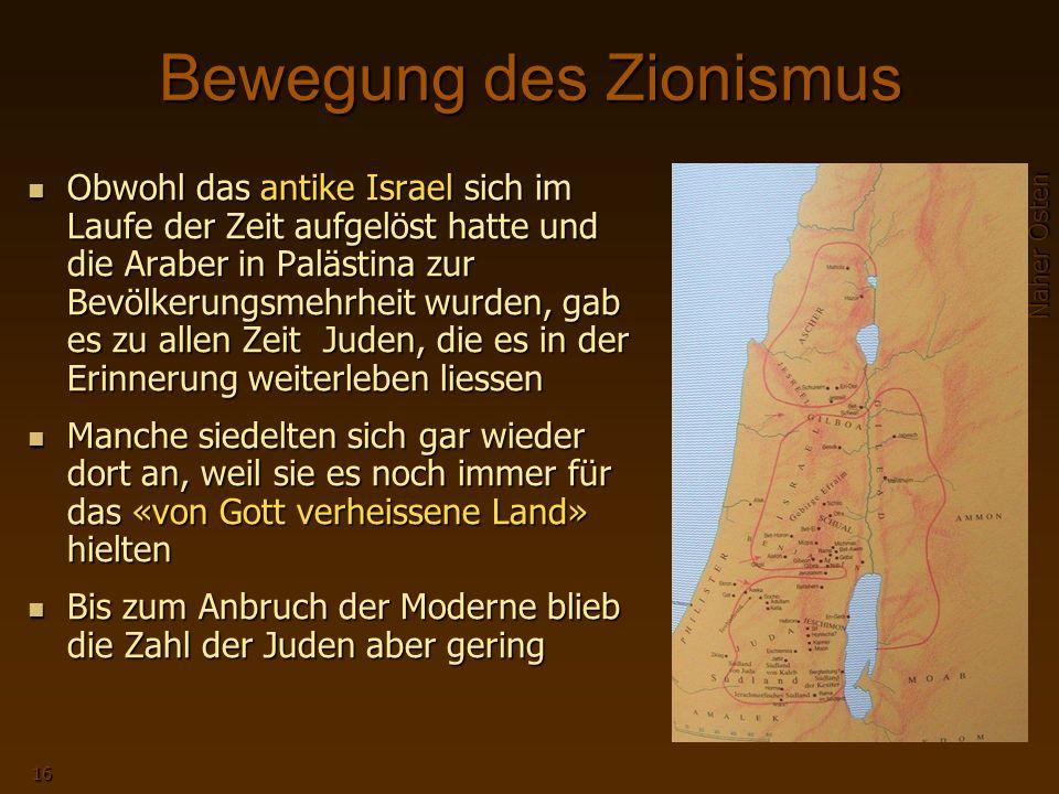 Bewegung des Zionismus