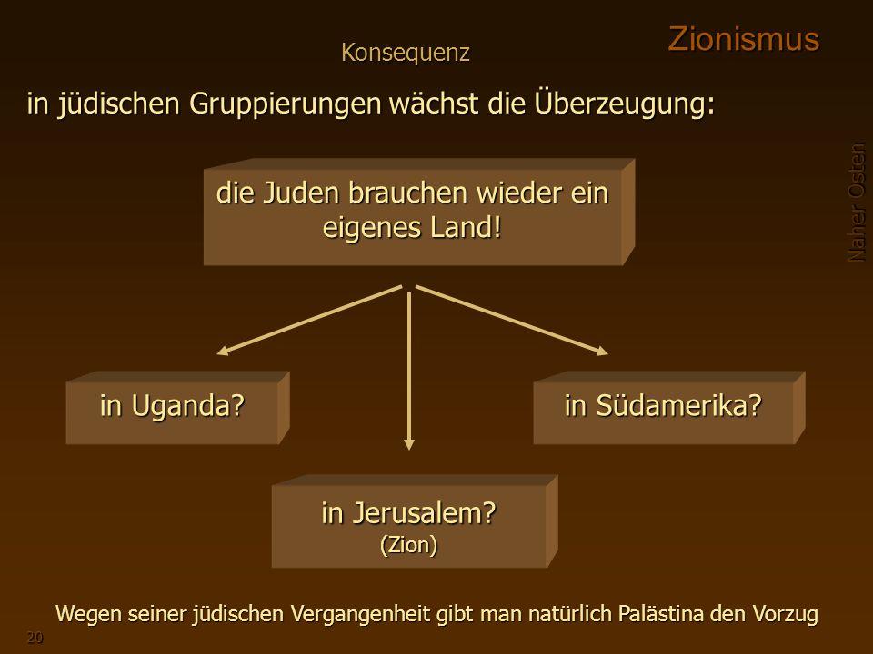 die Juden brauchen wieder ein eigenes Land!
