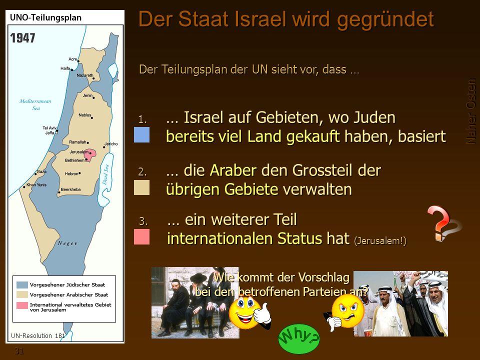 Der Staat Israel wird gegründet