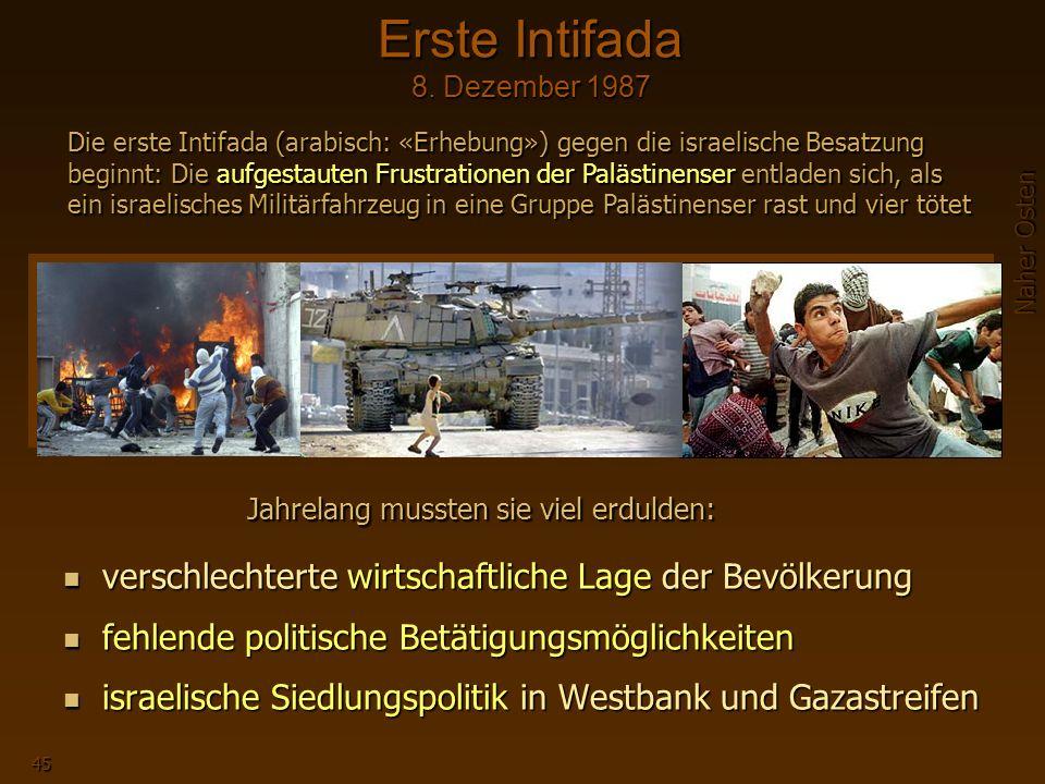 Erste Intifada 8. Dezember 1987