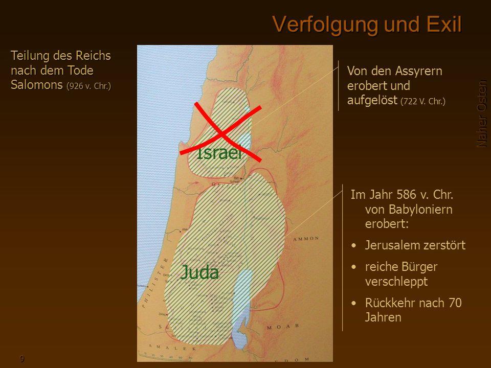 Verfolgung und Exil Israel Juda