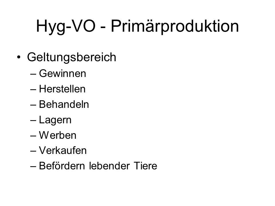 Hyg-VO - Primärproduktion