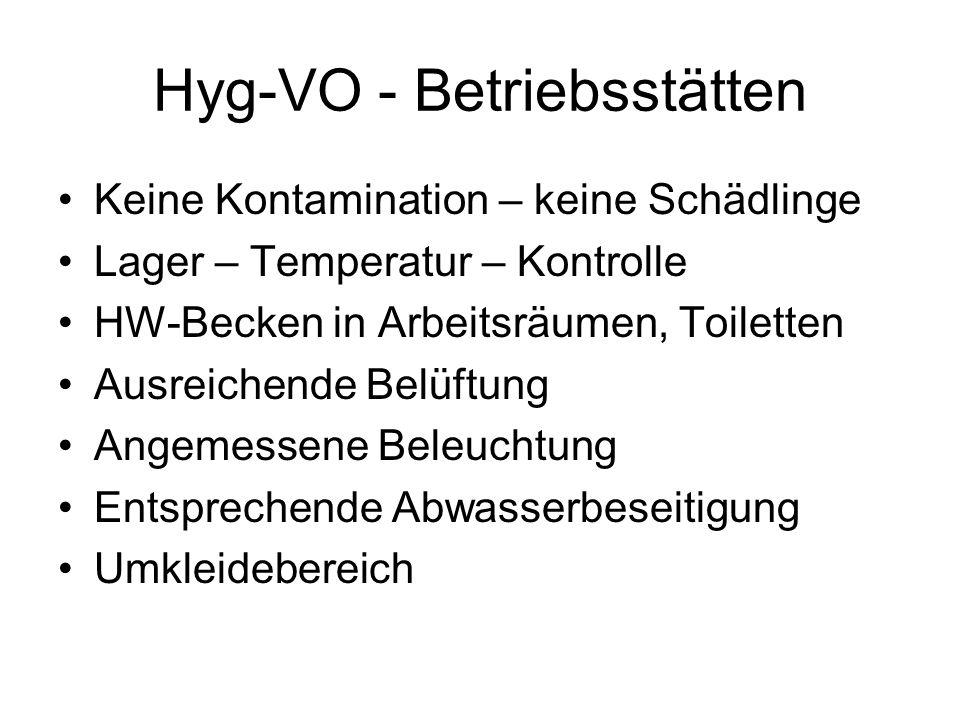 Hyg-VO - Betriebsstätten