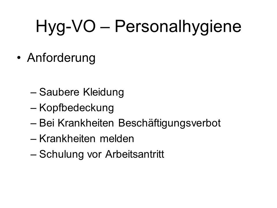 Hyg-VO – Personalhygiene