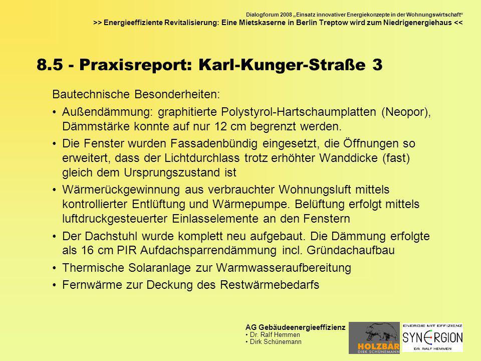 8.5 - Praxisreport: Karl-Kunger-Straße 3