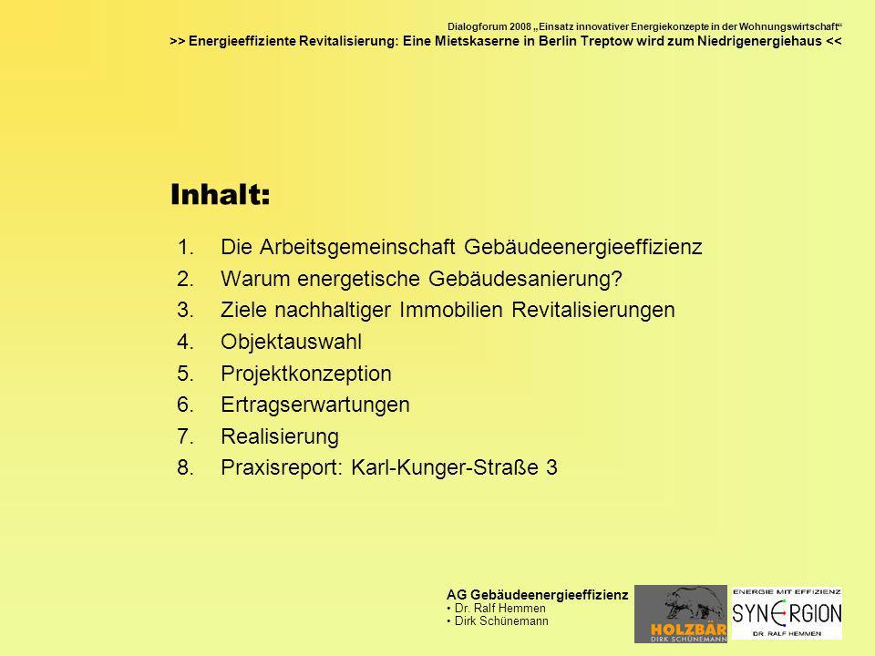 Inhalt: Die Arbeitsgemeinschaft Gebäudeenergieeffizienz