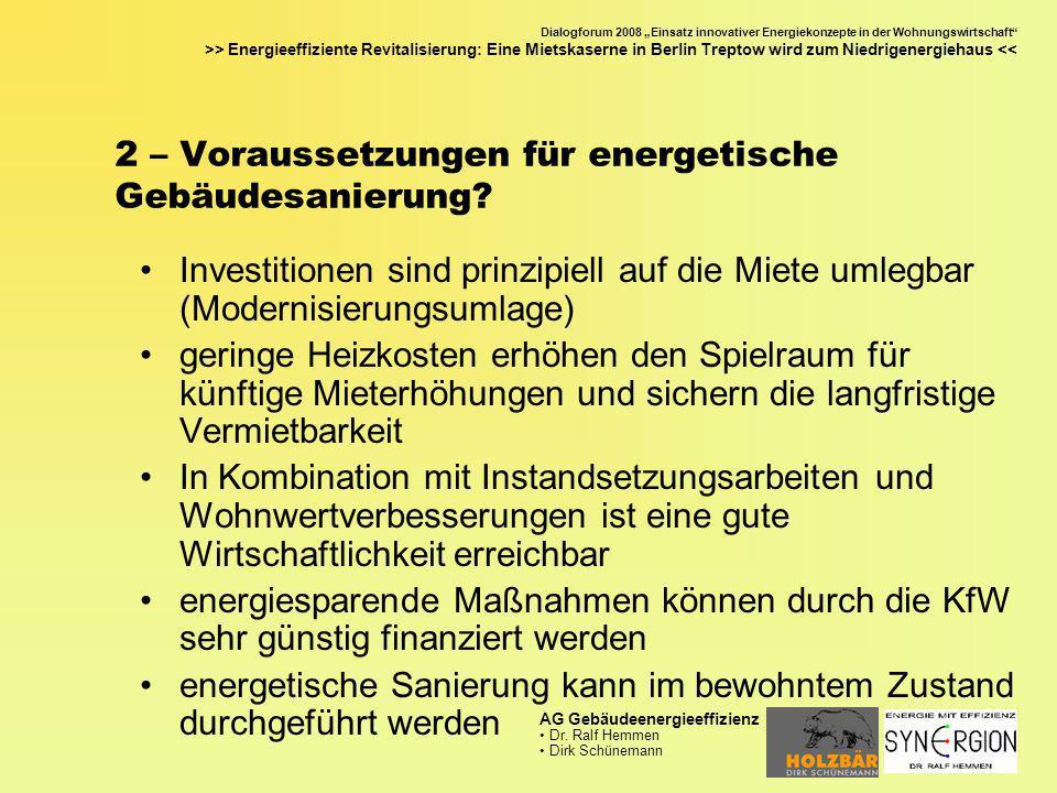 2 – Voraussetzungen für energetische Gebäudesanierung