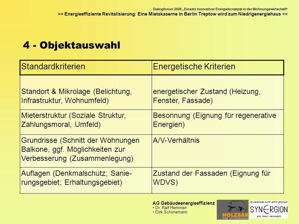4 - Objektauswahl Standardkriterien Energetische Kriterien
