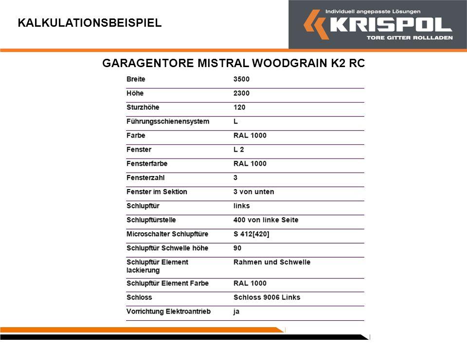 GARAGENTORE MISTRAL WOODGRAIN K2 RC