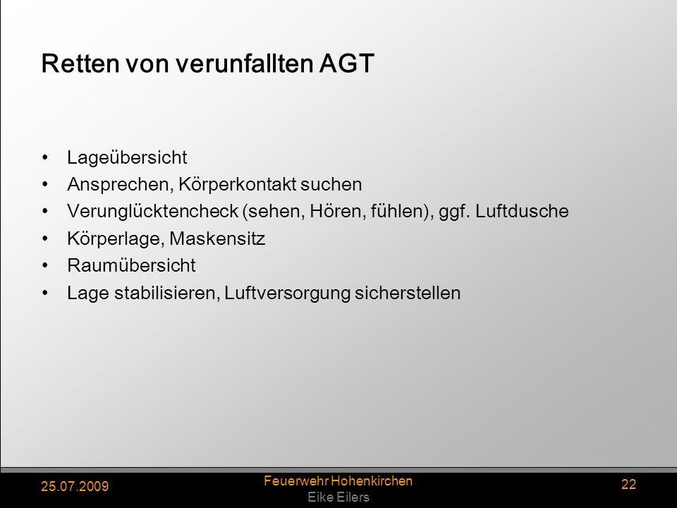 Retten von verunfallten AGT