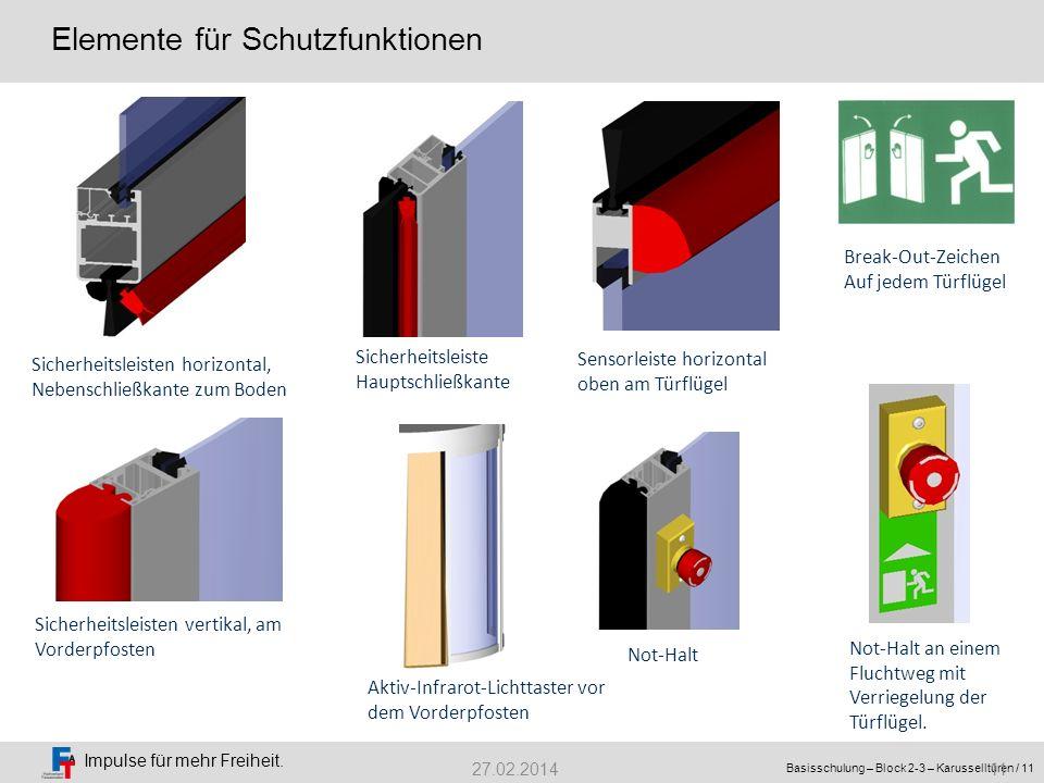 Elemente für Schutzfunktionen