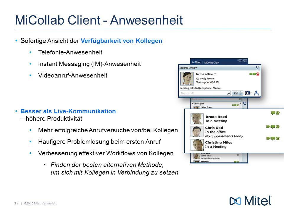 MiCollab Client - Anwesenheit