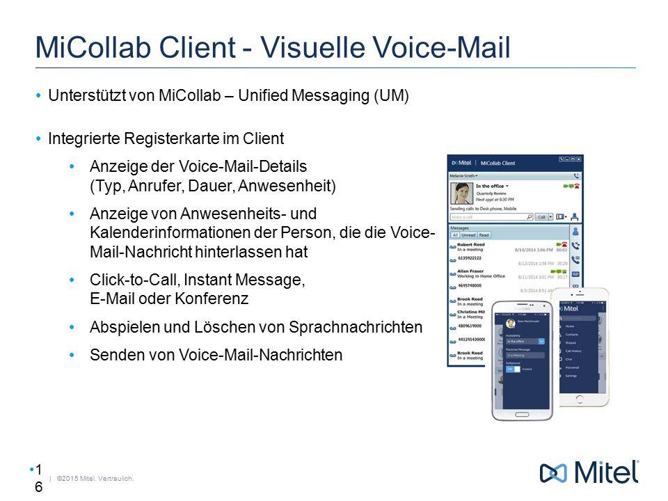 MiCollab Client - Visuelle Voice-Mail