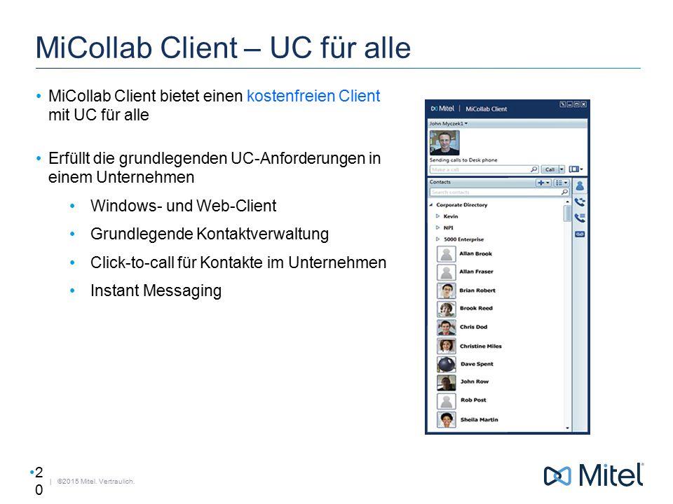 MiCollab Client – UC für alle