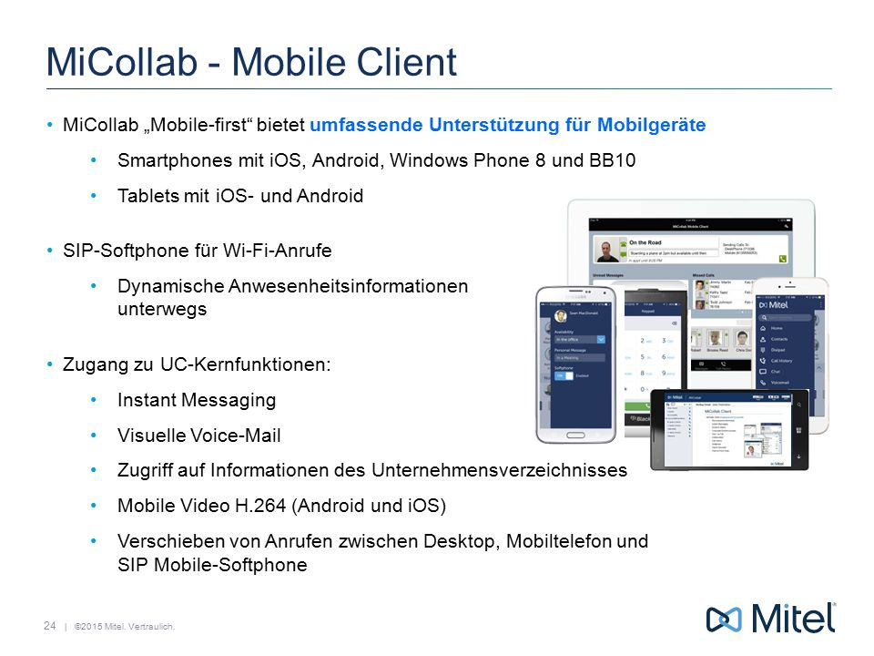 MiCollab - Mobile Client