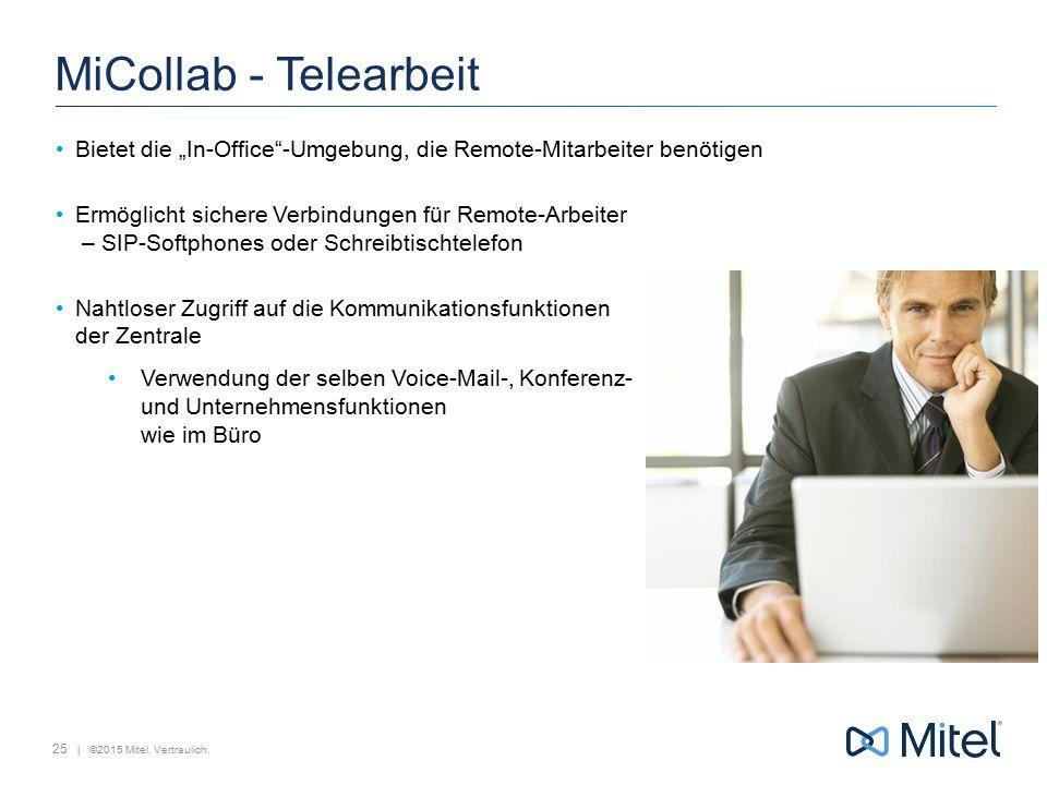 """MiCollab - Telearbeit Bietet die """"In-Office -Umgebung, die Remote-Mitarbeiter benötigen."""