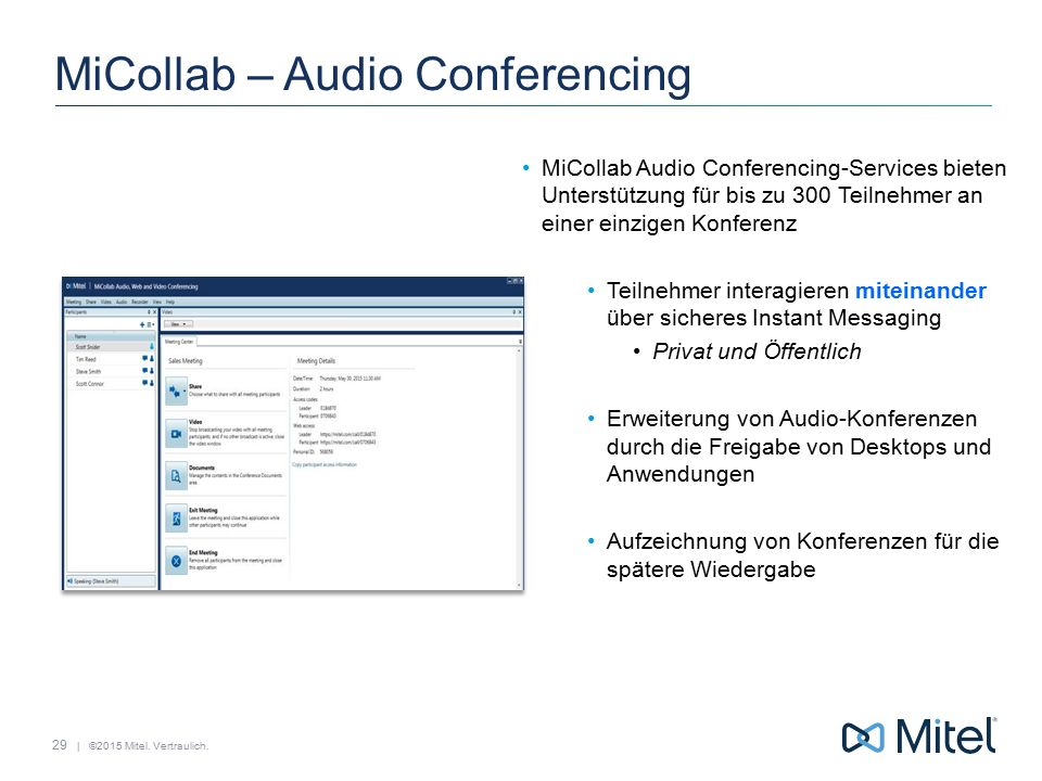 MiCollab – Audio Conferencing