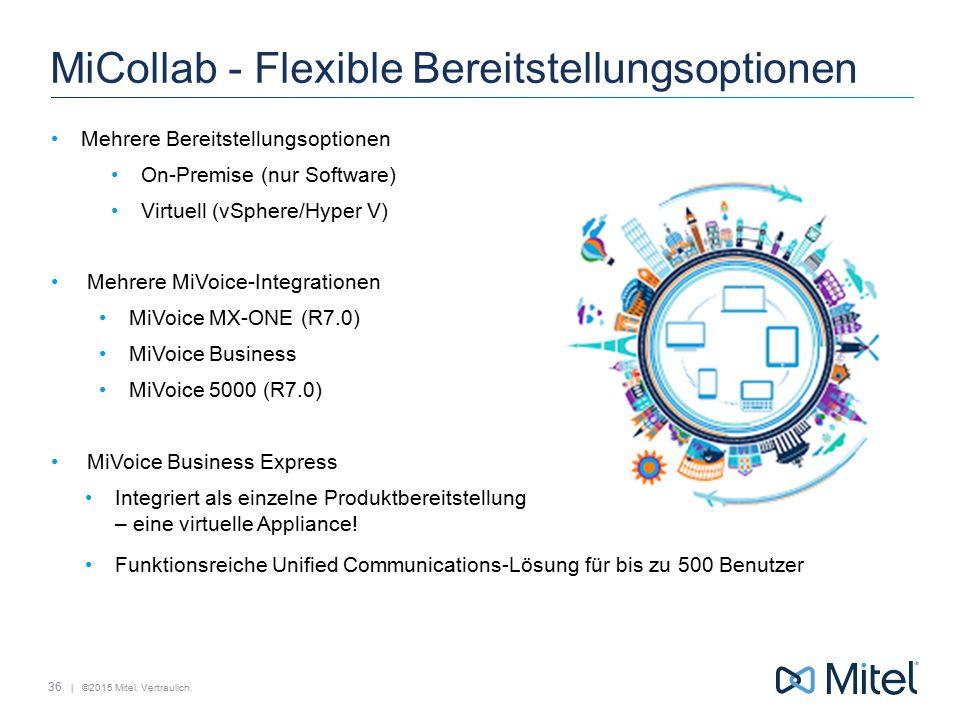 MiCollab - Flexible Bereitstellungsoptionen