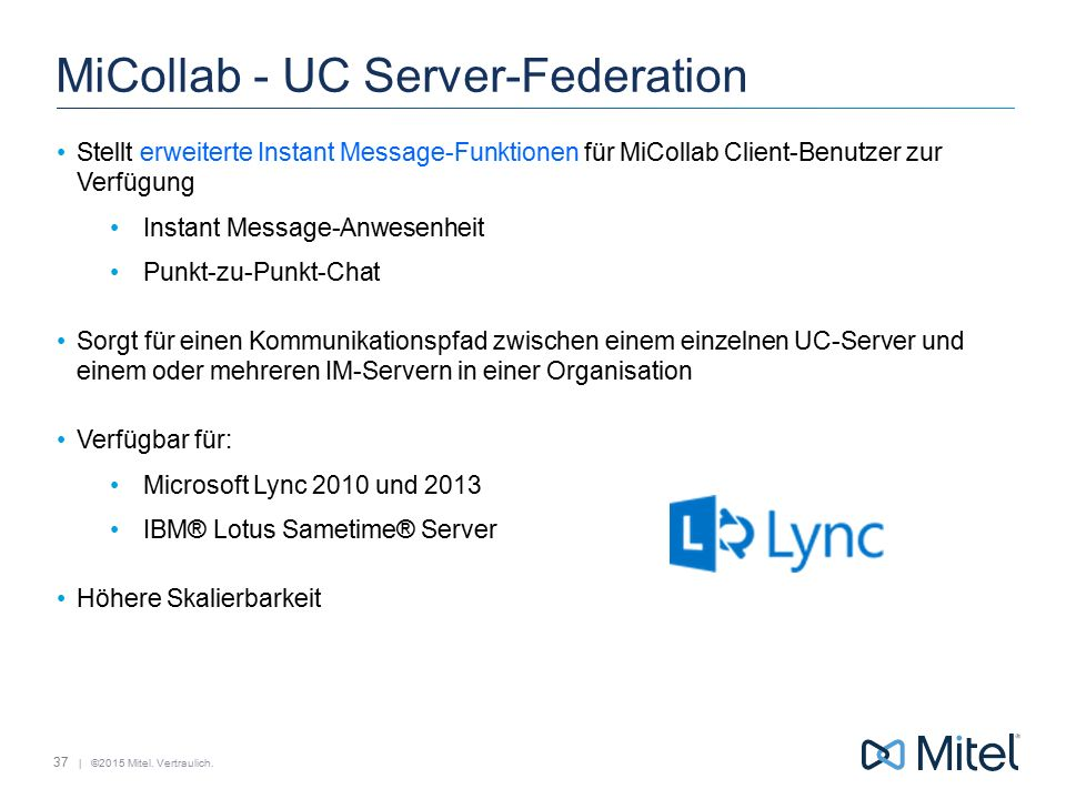 MiCollab - UC Server-Federation