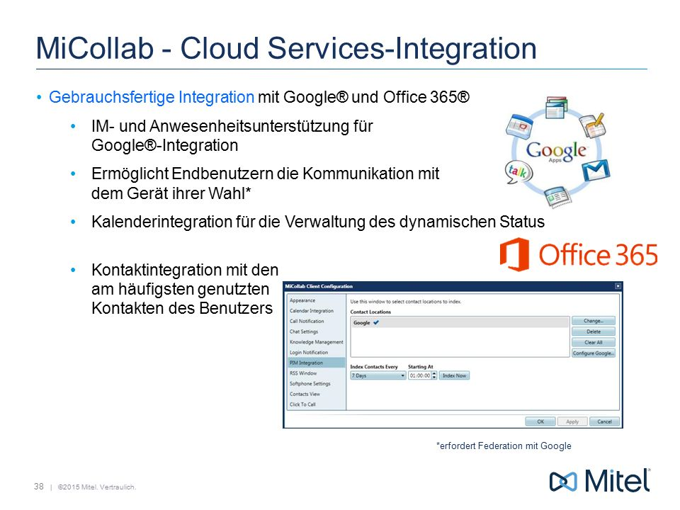 MiCollab - Cloud Services-Integration