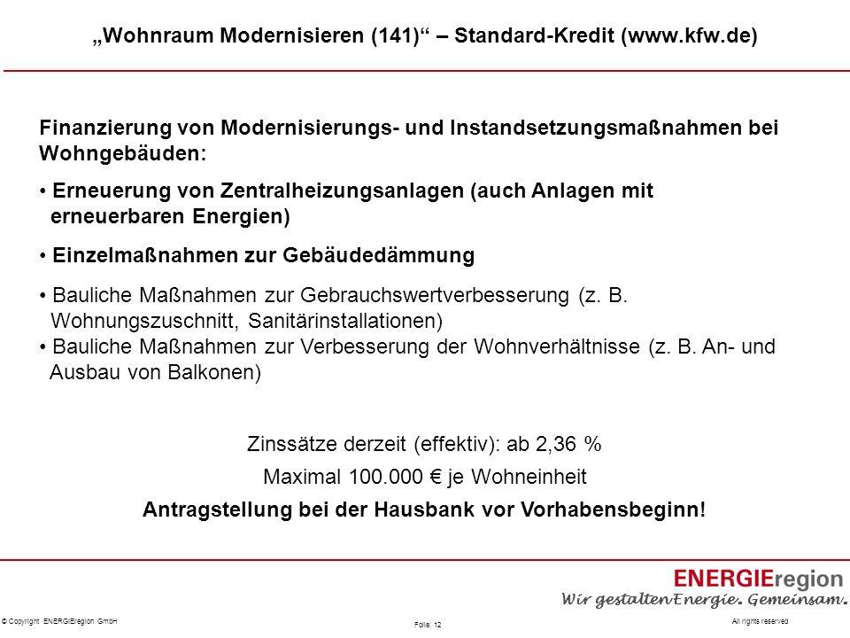 """""""Wohnraum Modernisieren (141) – Standard-Kredit (www.kfw.de)"""