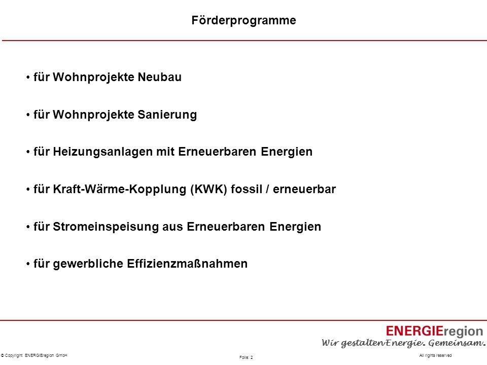 Förderprogramme für Wohnprojekte Neubau. für Wohnprojekte Sanierung. für Heizungsanlagen mit Erneuerbaren Energien.