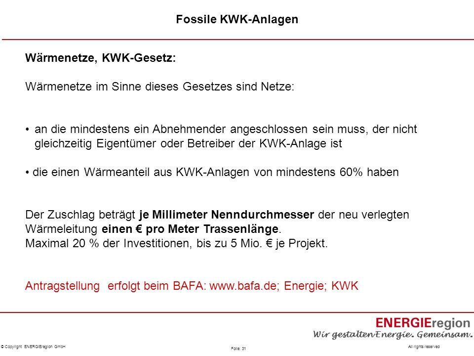 Fossile KWK-Anlagen Wärmenetze, KWK-Gesetz: Wärmenetze im Sinne dieses Gesetzes sind Netze: