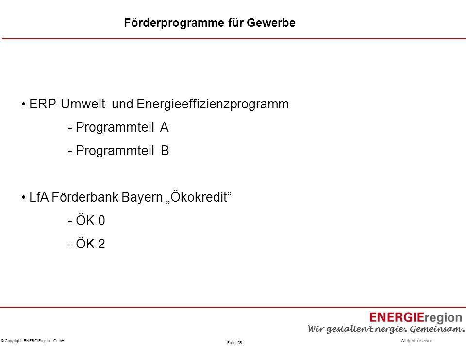 ERP-Umwelt- und Energieeffizienzprogramm - Programmteil A