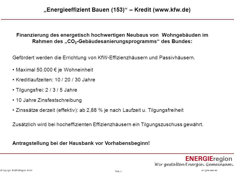 """Energieeffizient Bauen (153) – Kredit (www.kfw.de)"