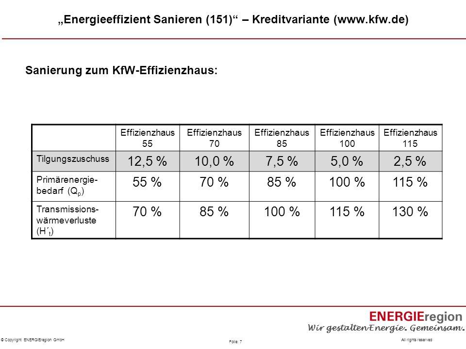 """Energieeffizient Sanieren (151) – Kreditvariante (www.kfw.de)"