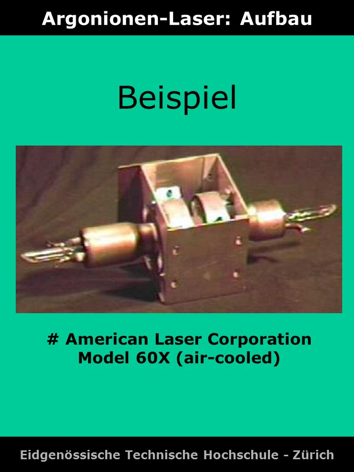 Argonionen-Laser: Aufbau