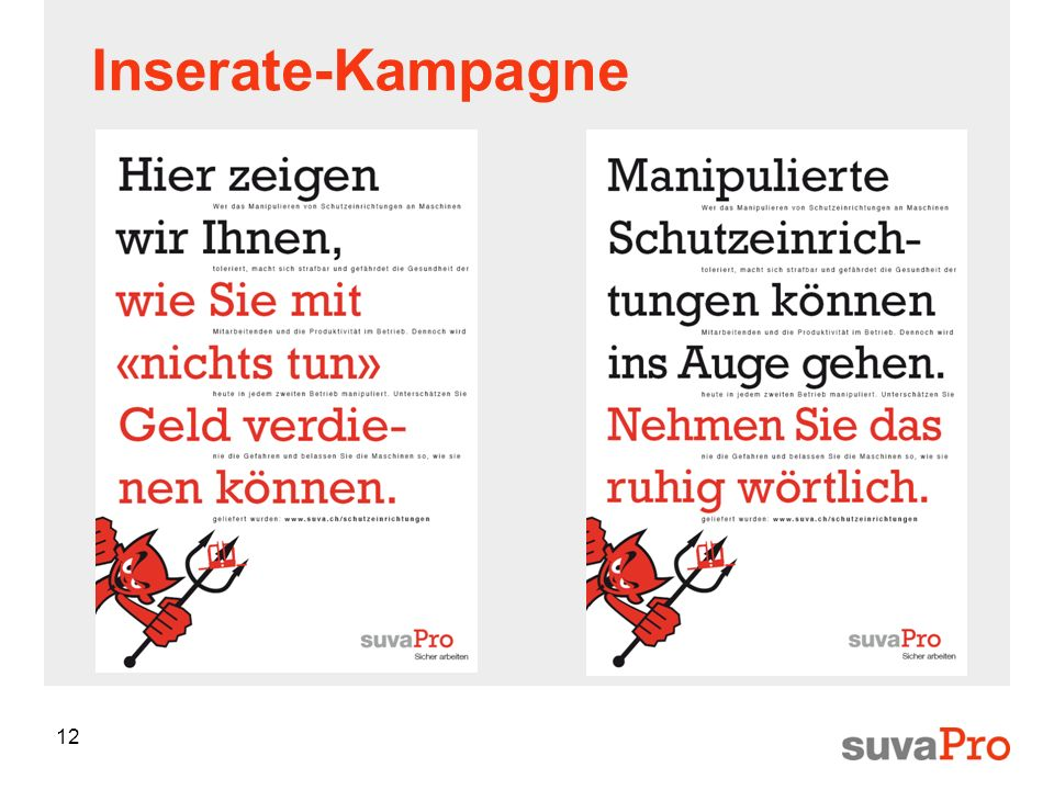Inserate-Kampagne