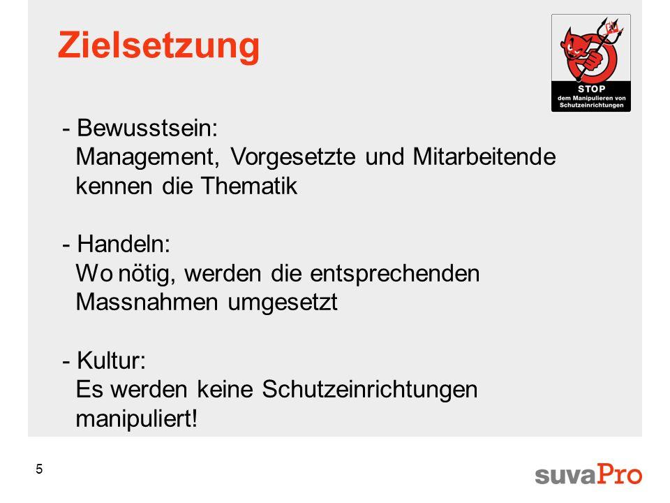 Zielsetzung - Bewusstsein: Management, Vorgesetzte und Mitarbeitende kennen die Thematik.