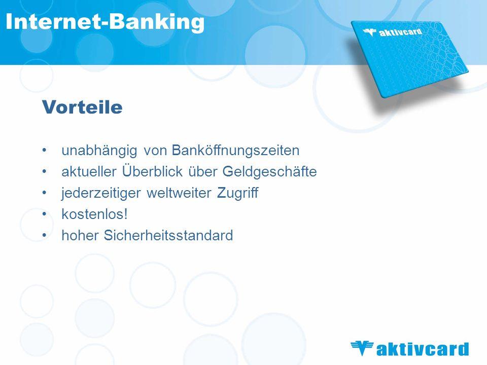 Internet-Banking Vorteile unabhängig von Banköffnungszeiten