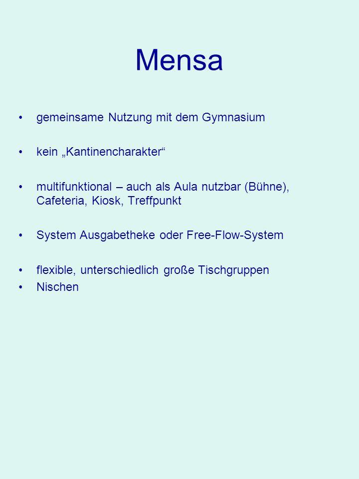 """Mensa gemeinsame Nutzung mit dem Gymnasium kein """"Kantinencharakter"""
