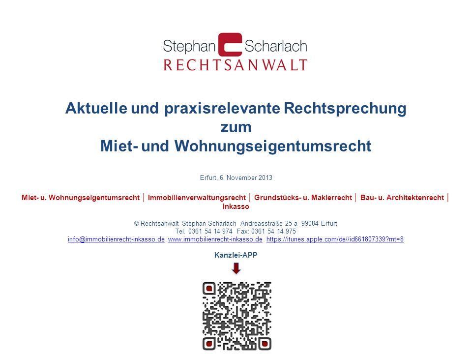 © Rechtsanwalt Stephan Scharlach Andreasstraße 25 a 99084 Erfurt