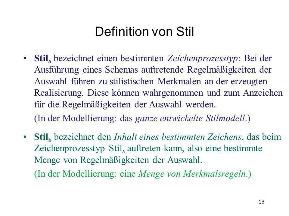 Definition von Stil
