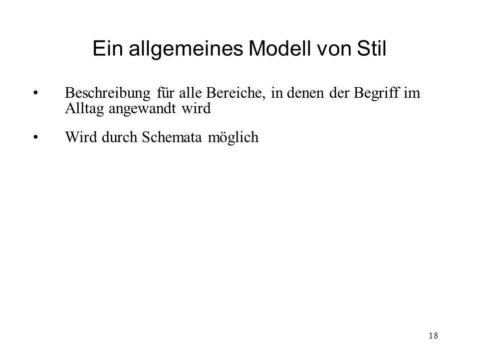 Ein allgemeines Modell von Stil