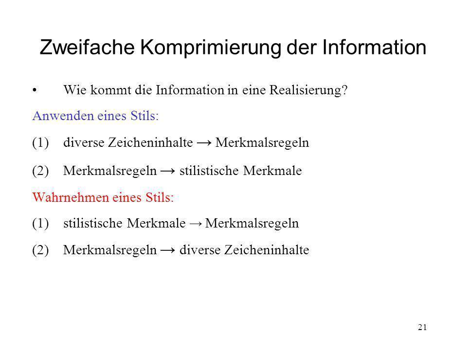 Zweifache Komprimierung der Information