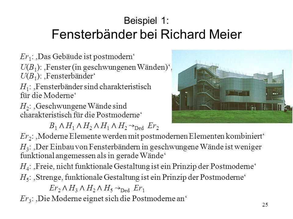 Beispiel 1: Fensterbänder bei Richard Meier