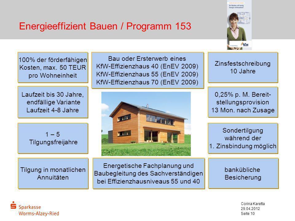 Energieeffizient Bauen / Programm 153