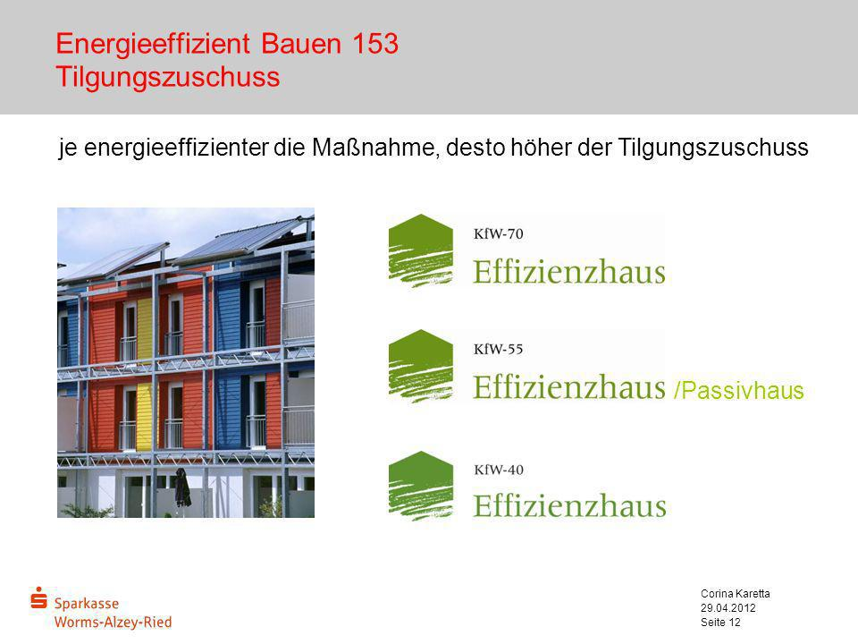 Energieeffizient Bauen 153 Tilgungszuschuss
