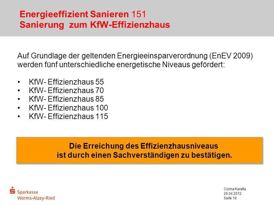 Energieeffizient Sanieren 151 Sanierung zum KfW-Effizienzhaus