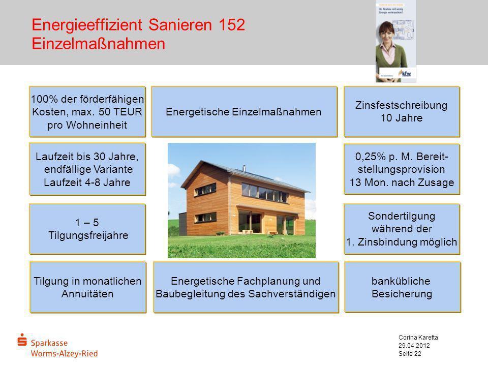 Energieeffizient Sanieren 152 Einzelmaßnahmen