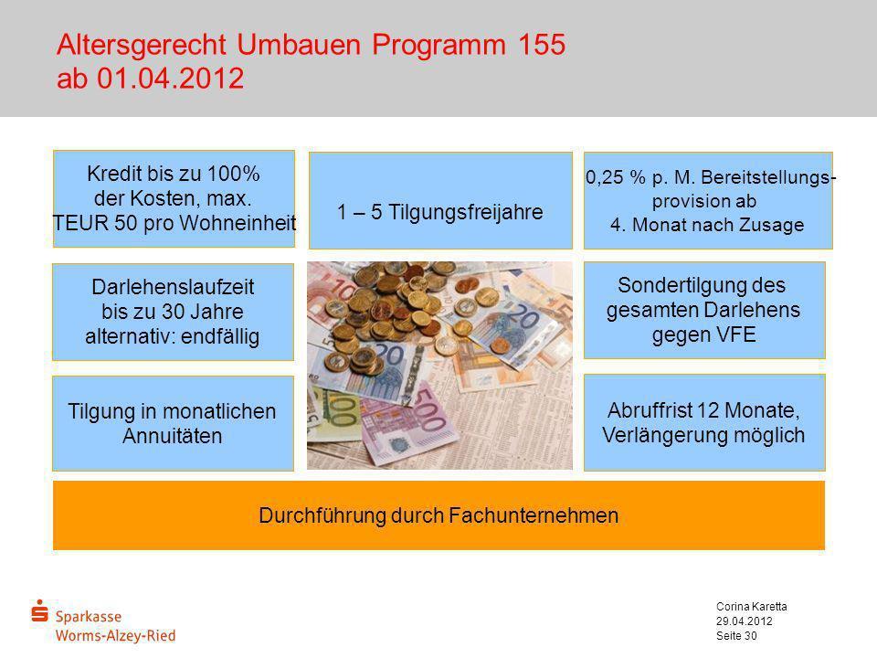 Altersgerecht Umbauen Programm 155 ab 01.04.2012