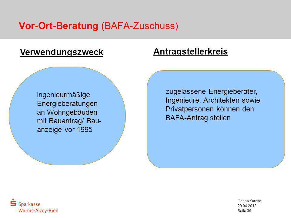 Vor-Ort-Beratung (BAFA-Zuschuss)