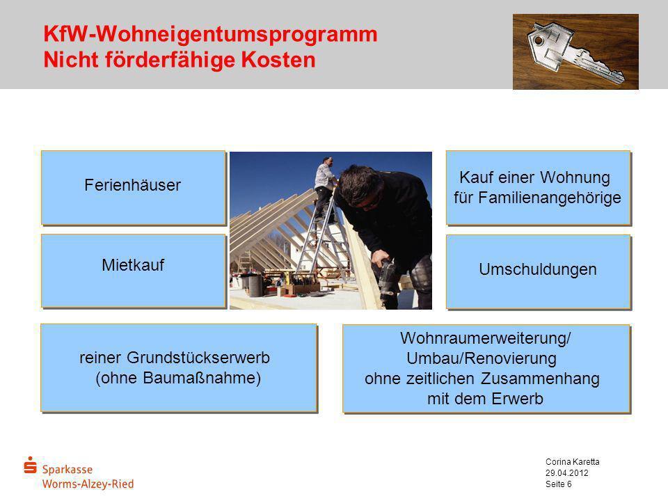KfW-Wohneigentumsprogramm Nicht förderfähige Kosten